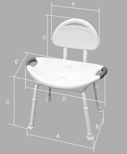 Tool Free Shower Chair