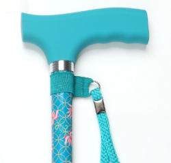Color Matched Straight Adjustable Cane with Silicone Handle