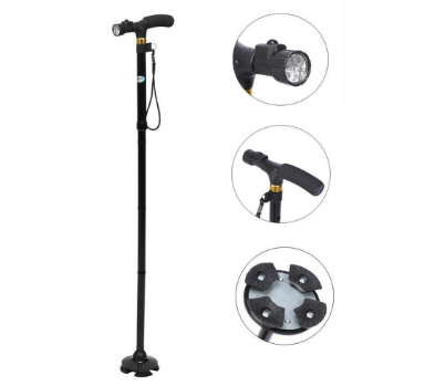 Rehabilitation Therapy Supplies Foldable Walking Cane